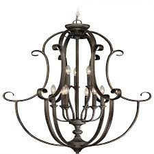 Jeremiah Lighting Chandeliers Lighting 24239 Mb Barrett Place 9 Light Foyer Chandelier In Mocha