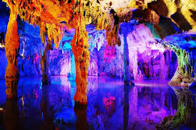 reed flute cave water eroded reed flute cave stock photo image of glowing