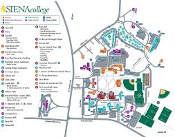 New York City Area Map by Campus Map Siena College New York
