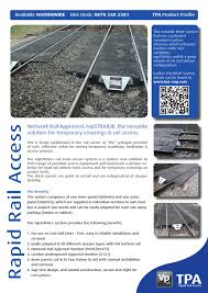 tpa rapid rail access tapstrail rrap product profile