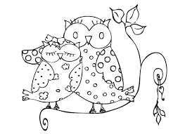 owls coloring pages sleepy owl of cartoon pictures animal for