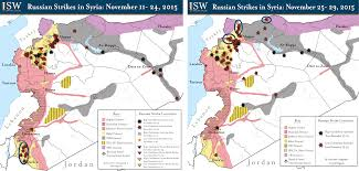 Syria Situation Map by Isw Blog Russian Airstrikes In Syria November 11 29 2015