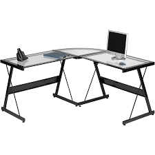 small clear glass table l furniture l shaped computer tables for home l shaped desk for 2