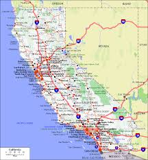 map of cities in california maps of california