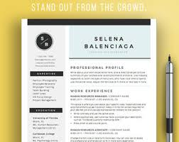Modern Professional Resume Templates Resume Template Word Free Cover Letter Cv Template