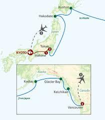 Ketchikan Alaska Map by Japan U0026 North Pacific Adventure To Alaska
