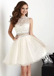 white homecoming dresses ball gowns short prom dress lass