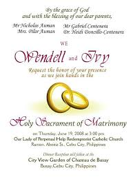 marriage invitation letter format marriage invitation letter