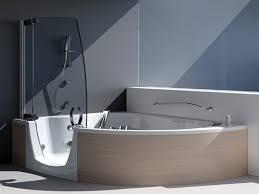 Corner Shower Bath Combo Glass Double Shower Bathroom Beach House In Laguna Beach