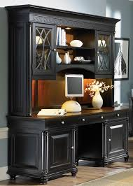 ives executive home office credenza u0026 hutch in two tone finish by