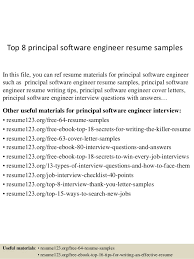 resume exles for software engineers top 8 principal software engineer resume sles 1 638 jpg cb 1432128333