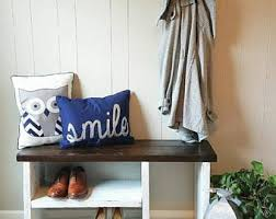 Boot Bench With Storage Cubby Bench Etsy