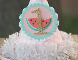 watermelon party hat smash cake hat photo prop first