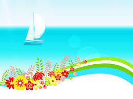 Blue Flower Backgrounds - summer day with flowers powerpoint templates blue flowers