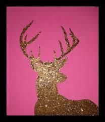 Deer Themed Home Decor Reclaimed Wood Distressed Multiple Colors Hand Painted Deer