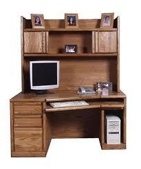 Oak Computer Desk With Hutch Fd 1054 Fd 1016 Contemporary Computer Desk Hutch Oak 58 Angled