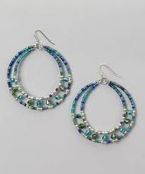 Knitted Chandelier Earrings Pattern Easy To Make Wire And Bead Hoop Earrings Beads Easy And Jewelry