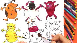 teach drawing animals to kids painting farm animals worm and