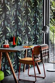 this beautiful botanical wallpaper design is called cembra home