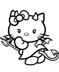 kitty devil coloring free printable coloring pages