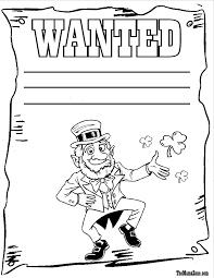 leprechaun coloring pages free glum me
