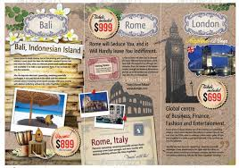 island brochure template showcase of premium travel brochure templates
