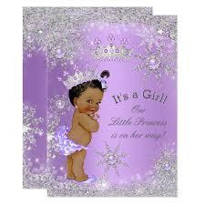 lavender baby shower ethnic princess baby shower lavender card zazzle