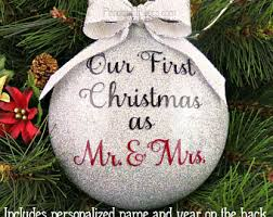 married ornament etsy