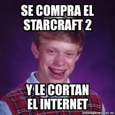 Starcraft 2 Meme - meme bad luck brian se compra el starcraft 2 y le cortan el