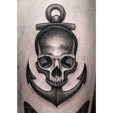 anchor skull tatting and tattos