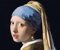 earring girl fashion with a pearl earring