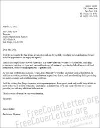 culinary chef cover letter