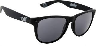 neff daily sunglasses matte black free shipping