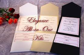 how to make wedding invitations rectangle black white pocket