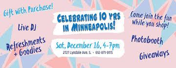 help us celebrate 10 years in minneapolis buffalo exchange new