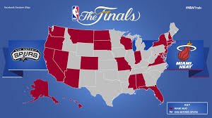 Red State Map by Nba Finals Fan Map Business Insider