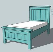Building Plans Twin Platform Bed by Free Diy Furniture Plans To Build A Land Of Nod Oak Park