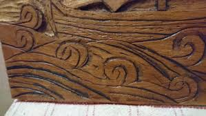 carved beech styled rustic nautical wood