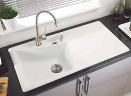 White Ceramic Kitchen Sink - Kitchen sinks ceramic