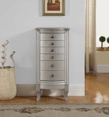 Jewelry Armoire Pier One Natalie Jewelry Armoire Silver