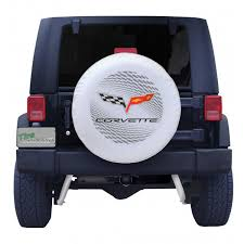 corvette spare tire general motors spare tire cover with corvette c6 logo