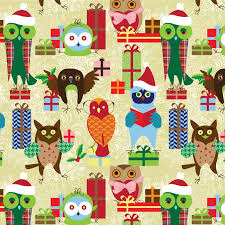 owl christmas wrapping paper gift wrap alex snelgrove