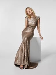 gold cocktail dress long dress gray short sleeves pronovias