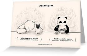 principles greeting cards by panda and polar redbubble