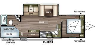 triple bunk travel trailer floor plans 2018 forest river wildwood travel trailer floorplans genuine rv