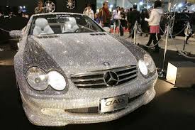 diamond benz 13 unusual objects covered in crystals and diamonds mental floss