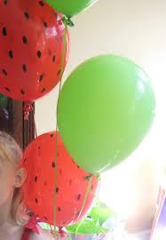 watermelon birthday party decor turn regular balloons into