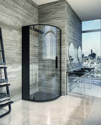 bathroom luxury small bathroom design with cornered glass shower