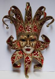 venetian jester mask jester mask with collar and gold joker