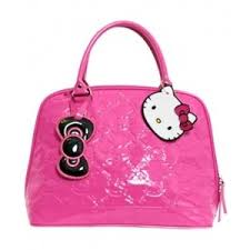 kitty bag small pink embossed tote bag loungefly